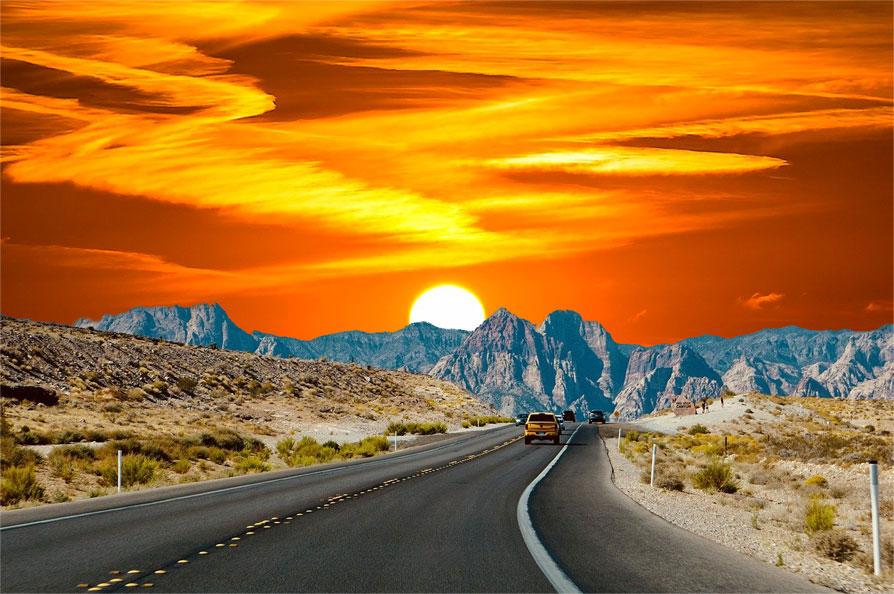 Photoshop:空の置き換え(夕日)