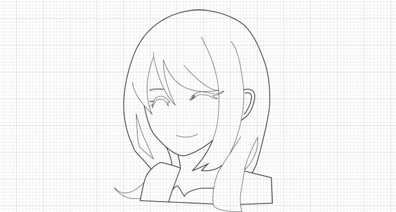 illustrator:トレース